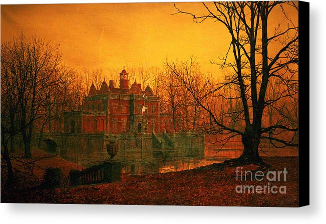 Bal9665 Canvas Print featuring the painting The Haunted House by John Atkinson Grimshaw