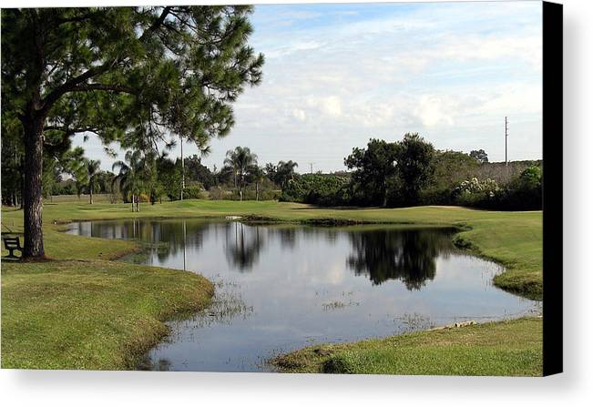 Landscape Photographs Canvas Print featuring the photograph Tranquil Pool by Frederic Kohli