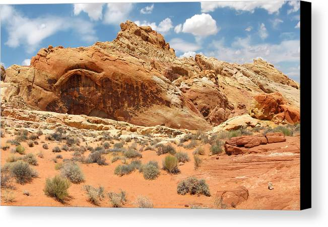 Landscape Canvas Print featuring the photograph Valley Of Fire by Mary Lane