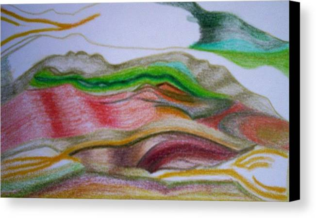 Abstract Canvas Print featuring the painting Valley Stream by Suzanne Udell Levinger