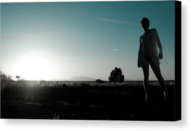 Woman Canvas Print featuring the photograph Woman Standng by Scott Sawyer