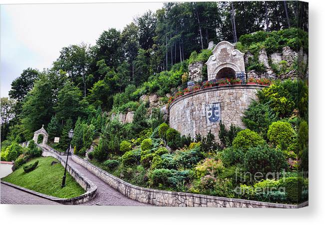 Poland Canvas Print featuring the photograph Poland - Monastery Of Discalced Carmelites In Czerna by Frank Bach
