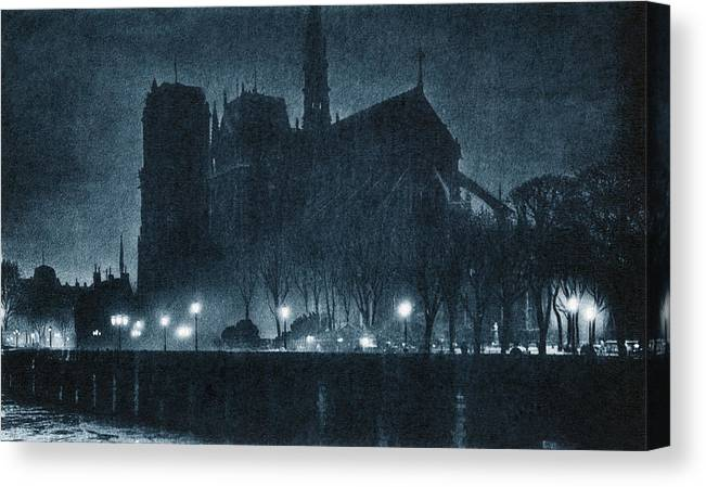 1920 Canvas Print featuring the photograph France Paris, C1920 by Granger
