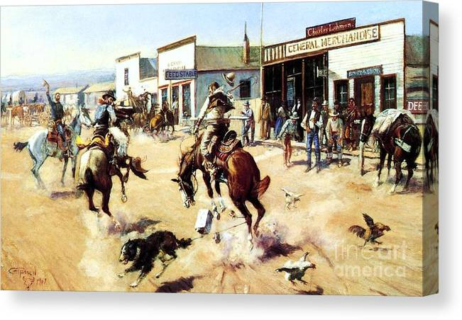 U.s.pd: Reproduction Canvas Print featuring the painting A Quiet Day In Utica by Pg Reproductions