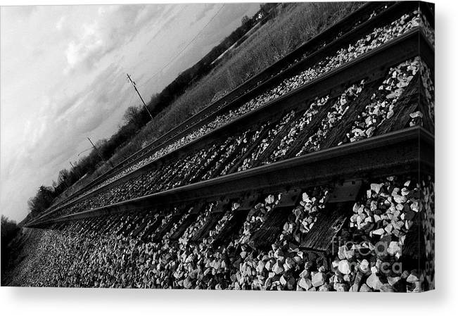 Railroad Canvas Print featuring the photograph Going Anywhere by Terra Voeks
