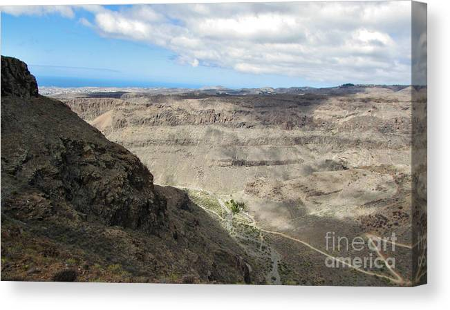 Amazing Colors Canvas Print featuring the photograph Landscape-canarian Volcanic Mountains by Bozena Simeth