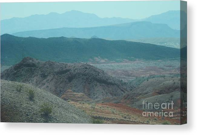 Mountains Canvas Print featuring the photograph Layers Of The Motherland by L Cecka