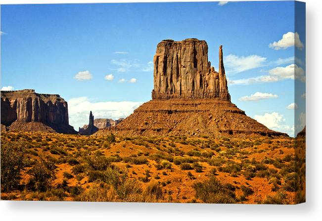 Monument Valley Canvas Print featuring the photograph The West Mitten by Saija Lehtonen
