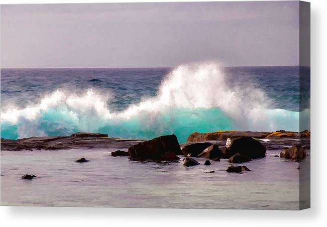 Beach Canvas Print featuring the photograph Turquoise Waves by Sabine Edrissi