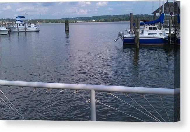 Dock Canvas Print featuring the photograph Potomac River Dock by Samson Agegnehu