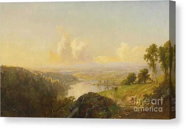 Landscape Canvas Print featuring the painting Landscape by MotionAge Designs
