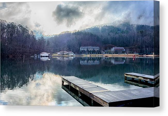 Nature Canvas Print featuring the photograph Nature Around Lake Lure Chimney Rock And Broad River North Carol by Alex Grichenko