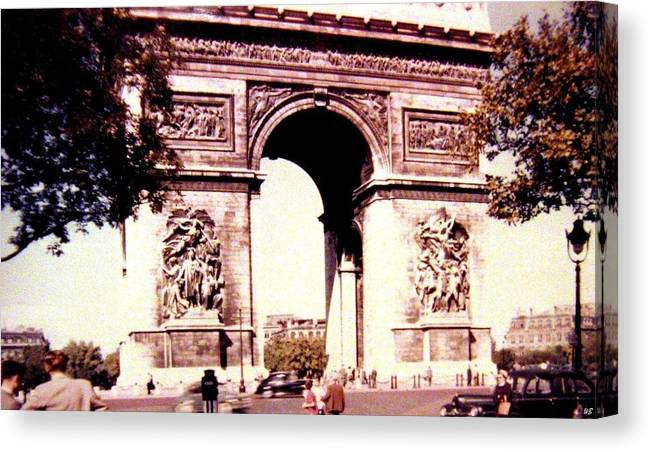 1955 Canvas Print featuring the photograph Arc De Triomphe 1955 by Will Borden