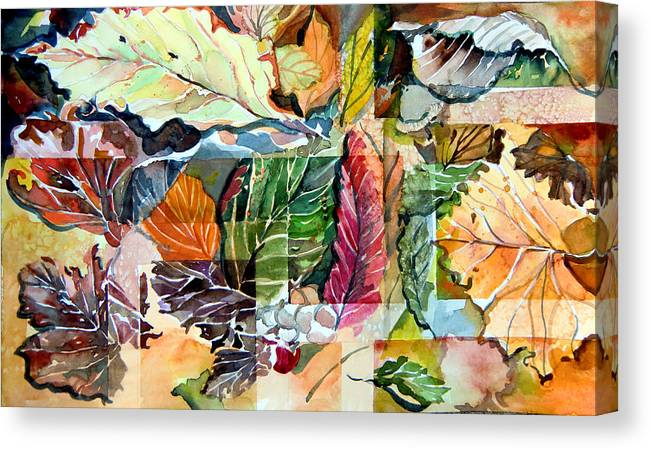 Autumn Canvas Print featuring the painting Autumn Falls by Mindy Newman