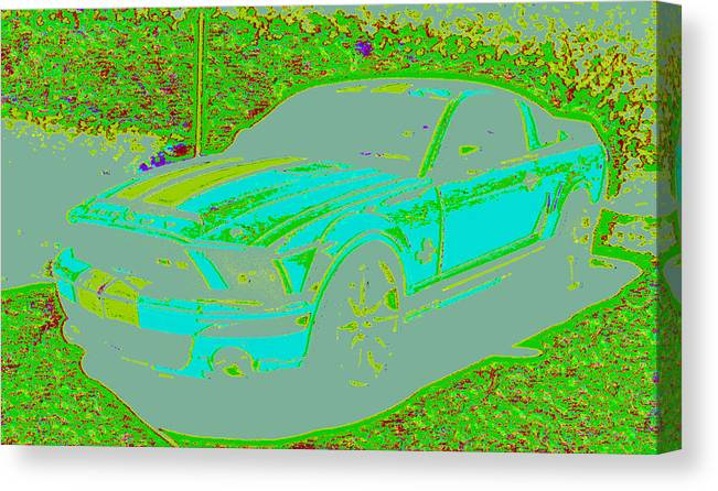 Canvas Print featuring the digital art Ford Shelby D4 by Modified Image