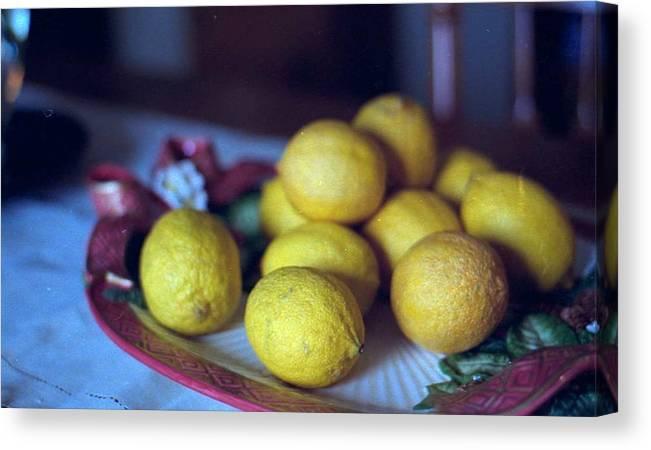 Lemons Canvas Print featuring the photograph Lemons by Michael Morrison