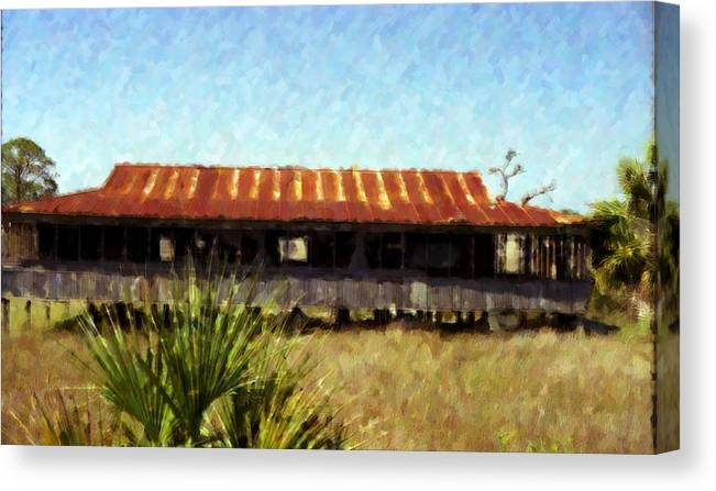 Landscape Canvas Print featuring the photograph Old Florida by Michael Morrison