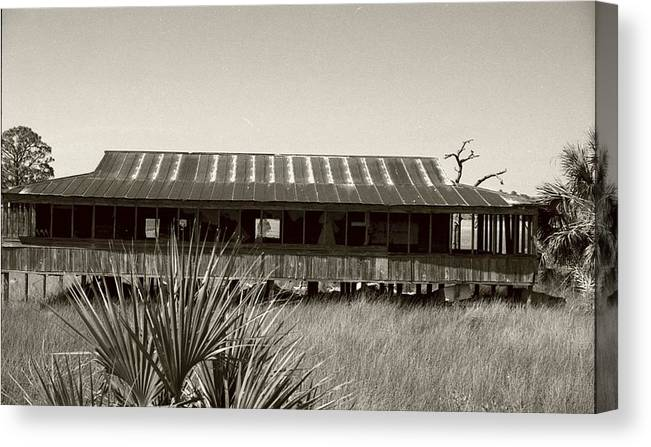 Old Florida Canvas Print featuring the photograph Old Florida Sepia by Michael Morrison