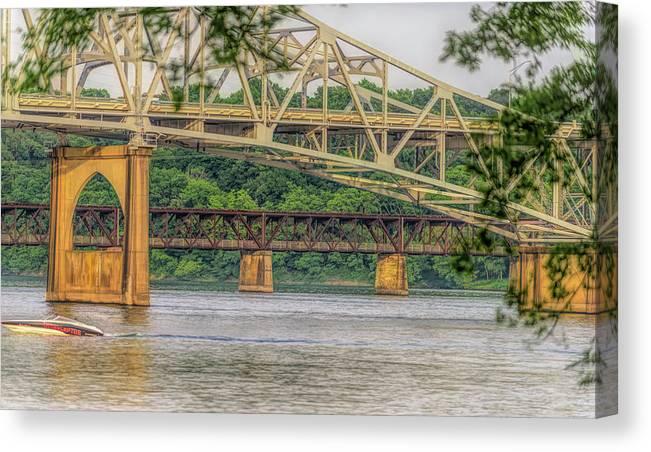 Canvas Print featuring the photograph O'neil Bridge4 by Craig Applegarth