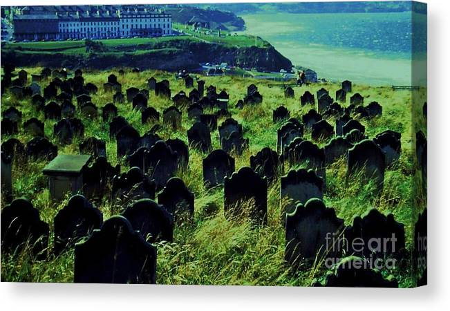 Whitby Canvas Print featuring the photograph Passed Or Past Residents Of Whitby, Yorkshire by Marcus Dagan