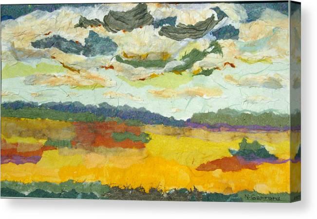 Farm Land Canvas Print featuring the mixed media Ripening Prairies by Naomi Gerrard
