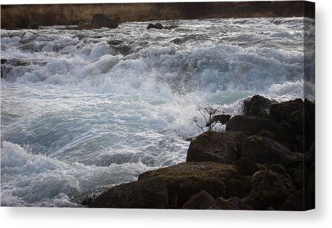 Nature Canvas Print featuring the photograph Rushing Water by Marilynne Bull