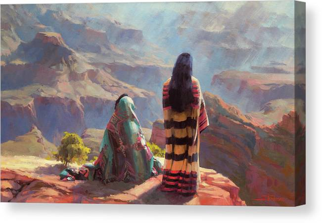 Southwest Canvas Print featuring the painting Stillness by Steve Henderson