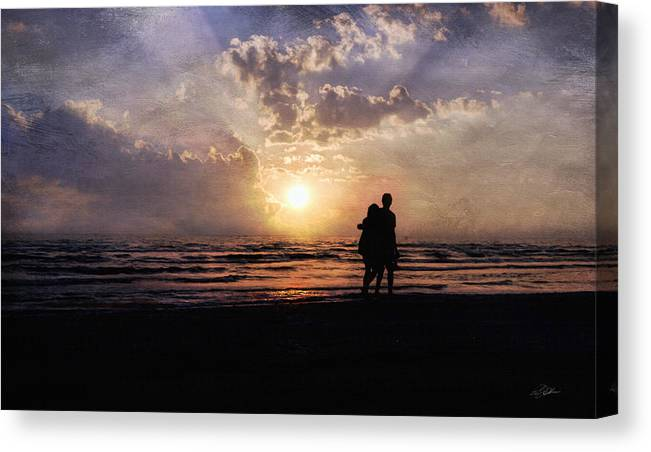 Sunset.sundown Canvas Print featuring the photograph Sun Lovers by Peter Chilelli