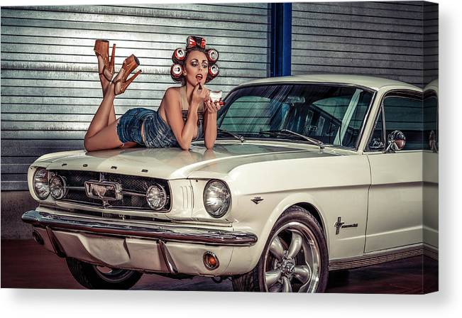 Portrait Canvas Print featuring the photograph Baby You Can Drive My Car ..... by Gno
