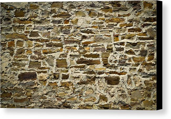 Design Canvas Print featuring the photograph Old Stone Wall by Jozef Jankola