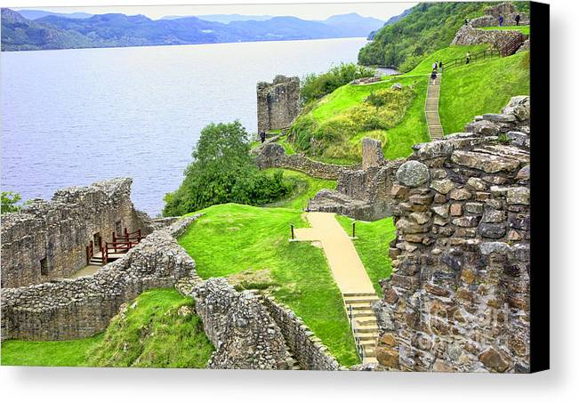 Urquhart Castle Canvas Print featuring the photograph Urquhart Castle IIi by Chuck Kuhn