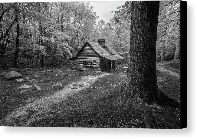 Art Canvas Print featuring the photograph Cabin In The Cove by Jon Glaser