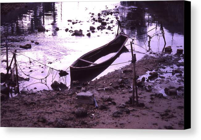 Canvas Print featuring the photograph Okinawa Canoe Parking by Curtis J Neeley Jr