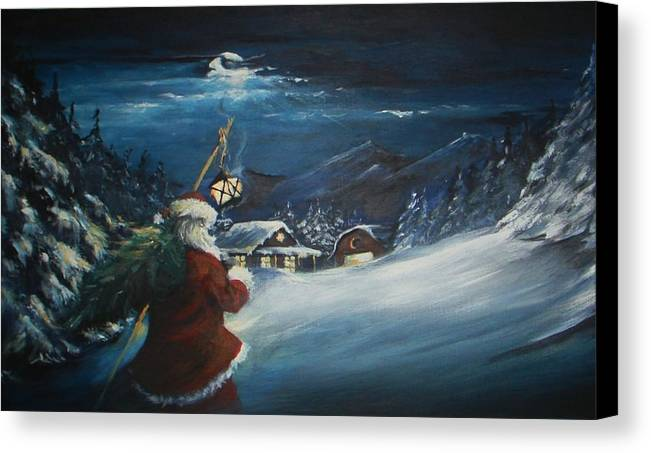 Chistmas Canvas Print featuring the painting O'taunanbaum by Richard Klingbeil