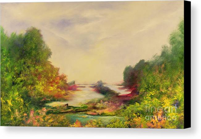 Valley Canvas Print featuring the painting Summer Joy by Hannibal Mane