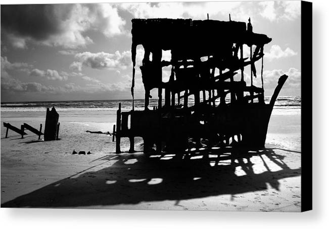 Shipwreck Canvas Print featuring the photograph The Wreckage Of The Peter Iredale II by Todd Fox