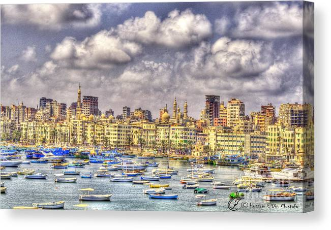 Canvas Print featuring the photograph Alex by Hossam ElDin Mostafa