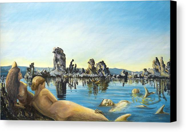 Seascape Canvas Print featuring the painting Anima by Aymeric NOA