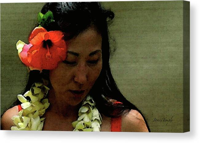 Hula Canvas Print featuring the photograph Flower Sign by James Temple