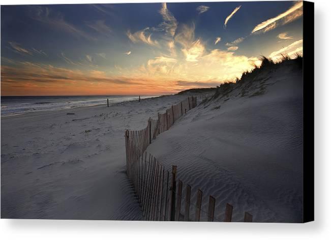 Cupsogue Beach Sunset Canvas Print featuring the photograph Cupsogue Beach Sunset by Jim Dohms