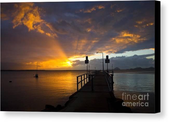 Sunrise Canvas Print featuring the photograph Salamander Bay Sunrise by Sheila Smart Fine Art Photography