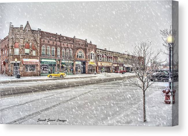 Lakeview Canvas Print featuring the photograph Another Snowy Day by Jack Johnson