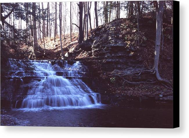 Waterfall Canvas Print featuring the photograph 111401-4 by Mike Davis