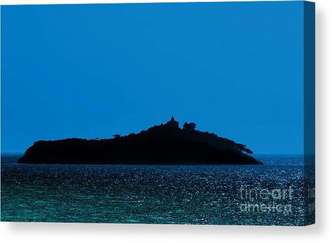Island Canvas Print featuring the digital art Island by Leo Symon