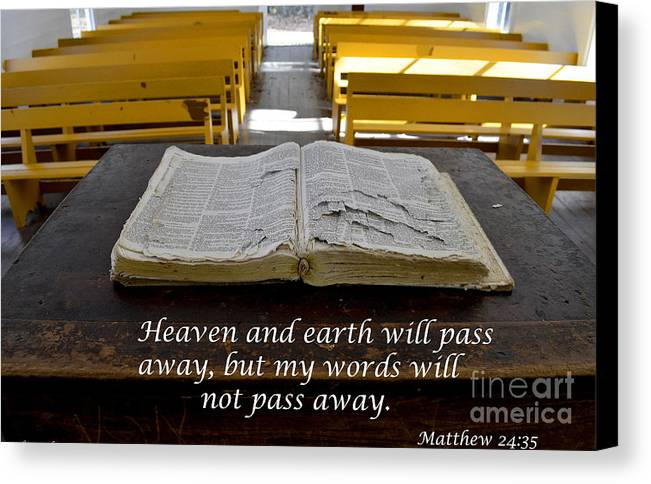 Bible Canvas Print featuring the photograph The Word by Debra Johnson