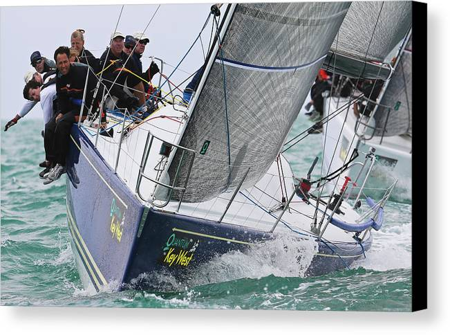 Sloop Canvas Print featuring the photograph On Point by Steven Lapkin
