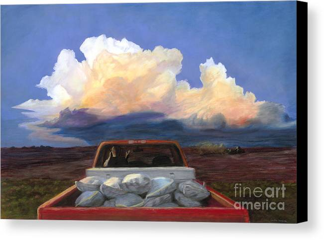 Storm Canvas Print featuring the pastel Rush by Christian Vandehaar