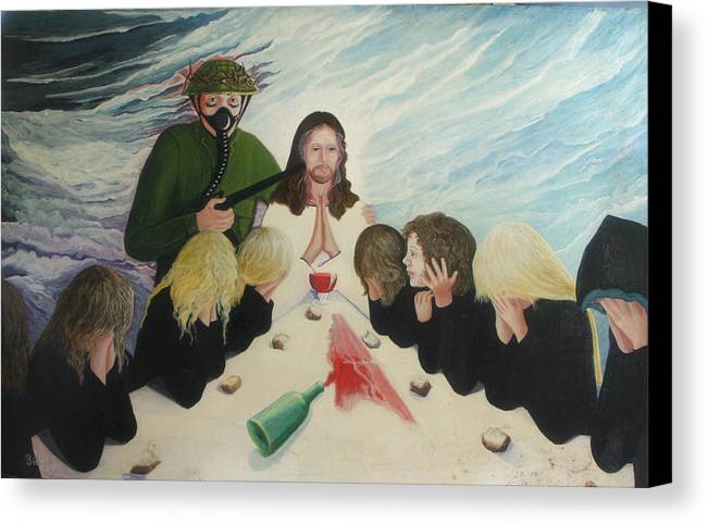 Religious Canvas Print featuring the painting The Dream by Georgette Backs