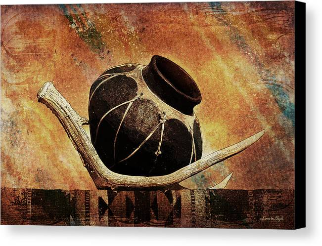 Antler Canvas Print featuring the photograph Antler And Olla by Karen Slagle