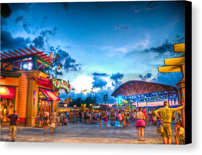 Disney Canvas Print featuring the photograph City Of Gold by Ryan Crane